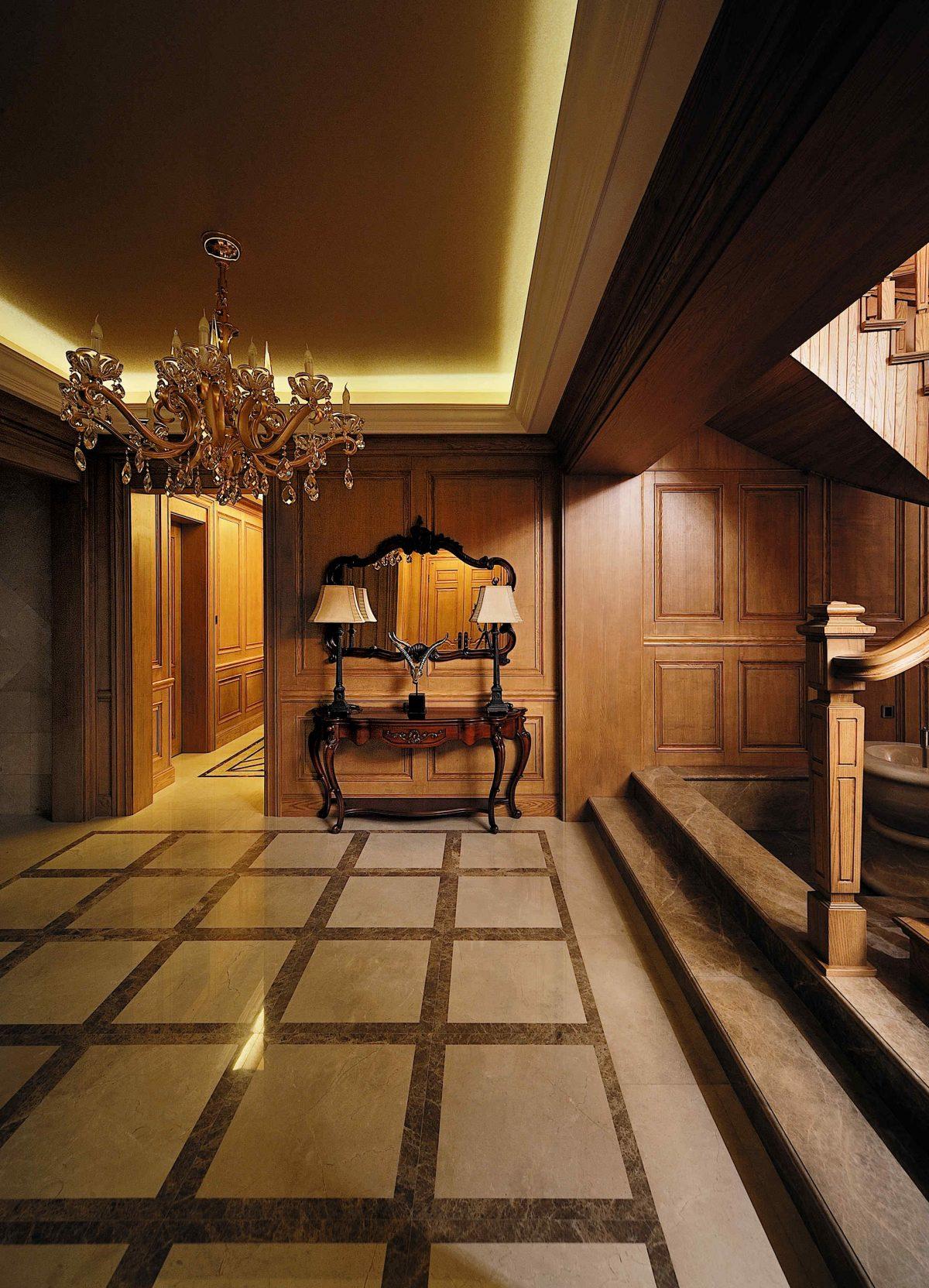 福州居住118-米洛西米黄欧式楼梯过道