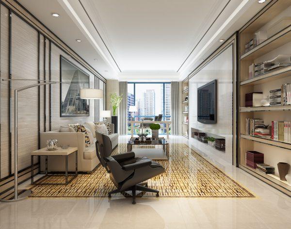 「月光曲」明亮米黄生动精致现代客厅