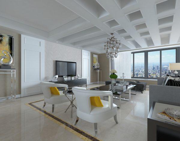 「樱花」简约米黄温润质感现代舒适客厅