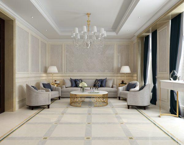 「玛格丽特」柔和米黄温馨闲适欧式客厅
