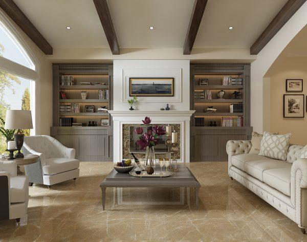 「米洛西金咖」典雅浪漫细腻纹理美式客厅
