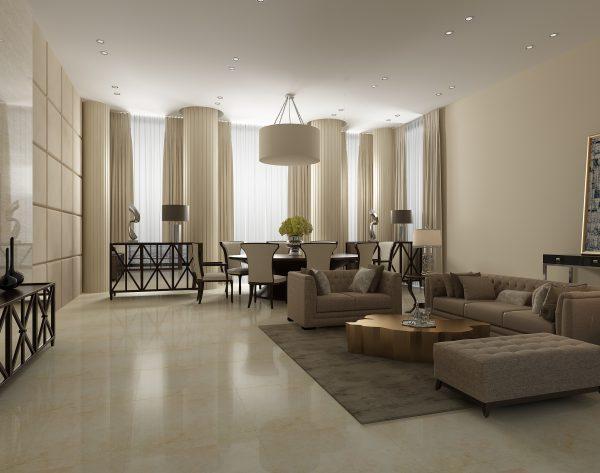 「米洛西米黄」素雅米黄干净简约现代客厅