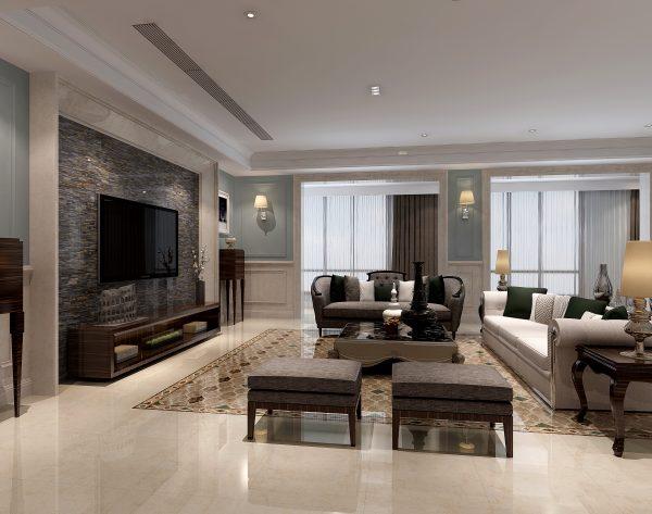 「拜占庭」奢华高雅多彩新古典客厅