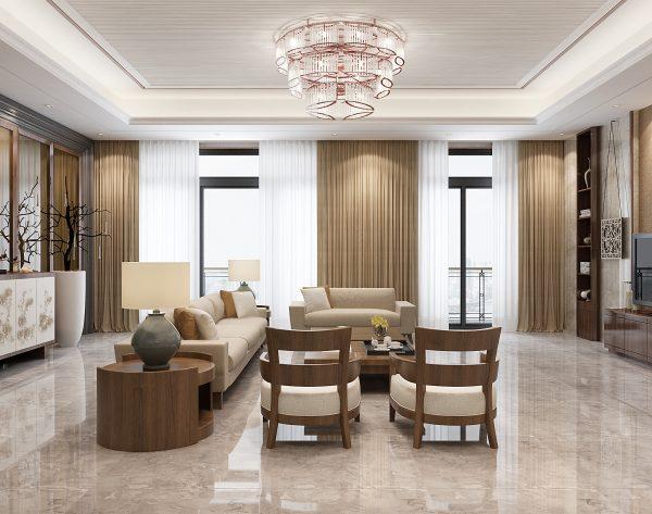 「米洛西中灰」低调沉稳舒适有型中式客厅