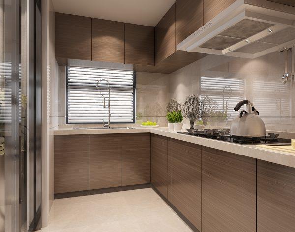 「米洛西浅灰」冷暖相宜极简温馨现代厨房