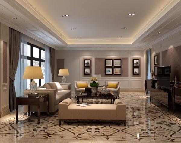 「丁香花」高雅棕黄细腻灵动欧式家庭厅