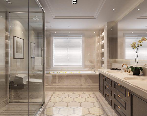 「白玉兰」极简几何清亮明朗新装饰主义卫浴间