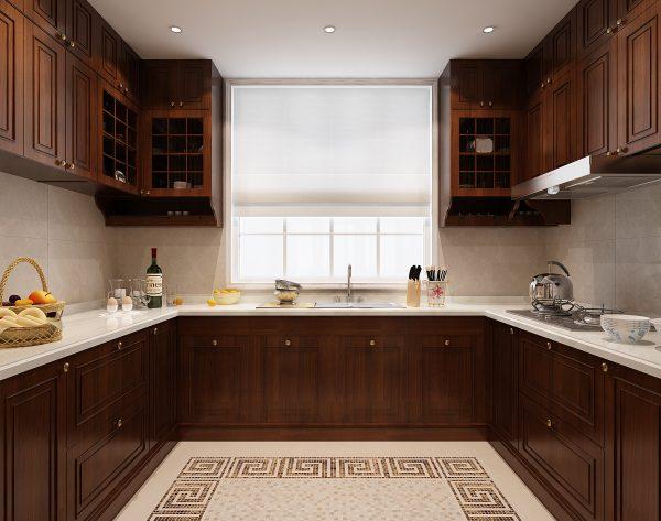 「蒙太奇」富有层次简约米黄美式厨房