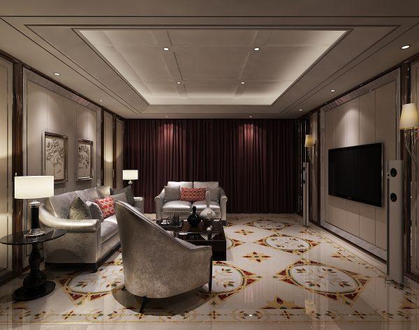 「西西里」红色系迷人优雅中式多功能厅