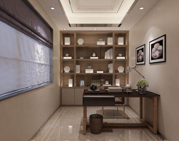 「米洛西中灰」雅致空间含蓄安宁现代书房
