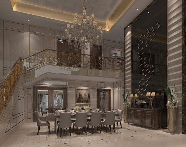 「曼陀罗」高级灰色精致奢华欧式餐厅