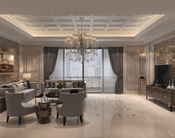 「曼陀罗」丰富色彩浪漫清新欧式客厅