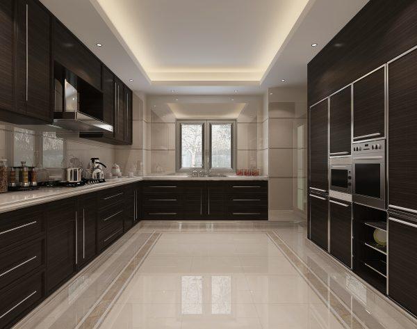 「白玉兰」冷暖搭配明亮舒适欧式厨房