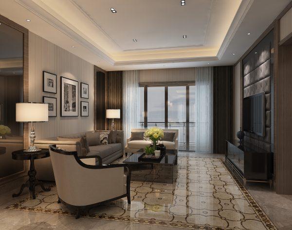 「华尔兹」深浅灰色浪漫华丽新古典客厅