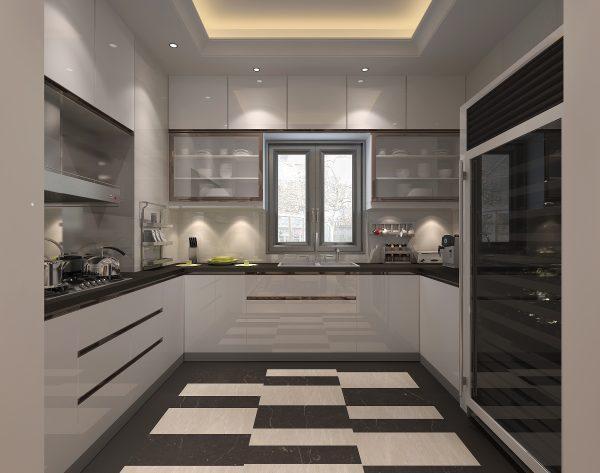 「香榭丽舍」深浅搭配别致灵动新装饰主义厨房