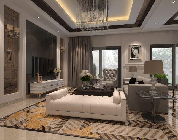 「织」斑斓多彩矜贵雅奢新装饰主义客厅