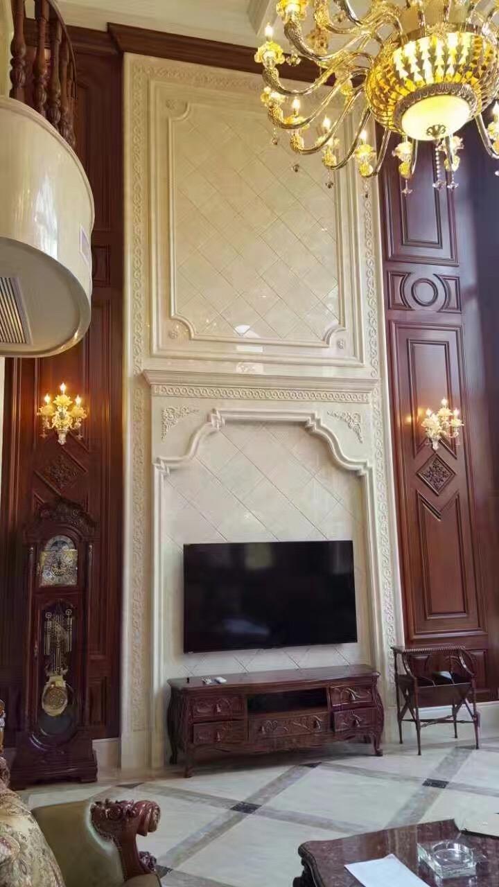 米洛西米黄电视墙