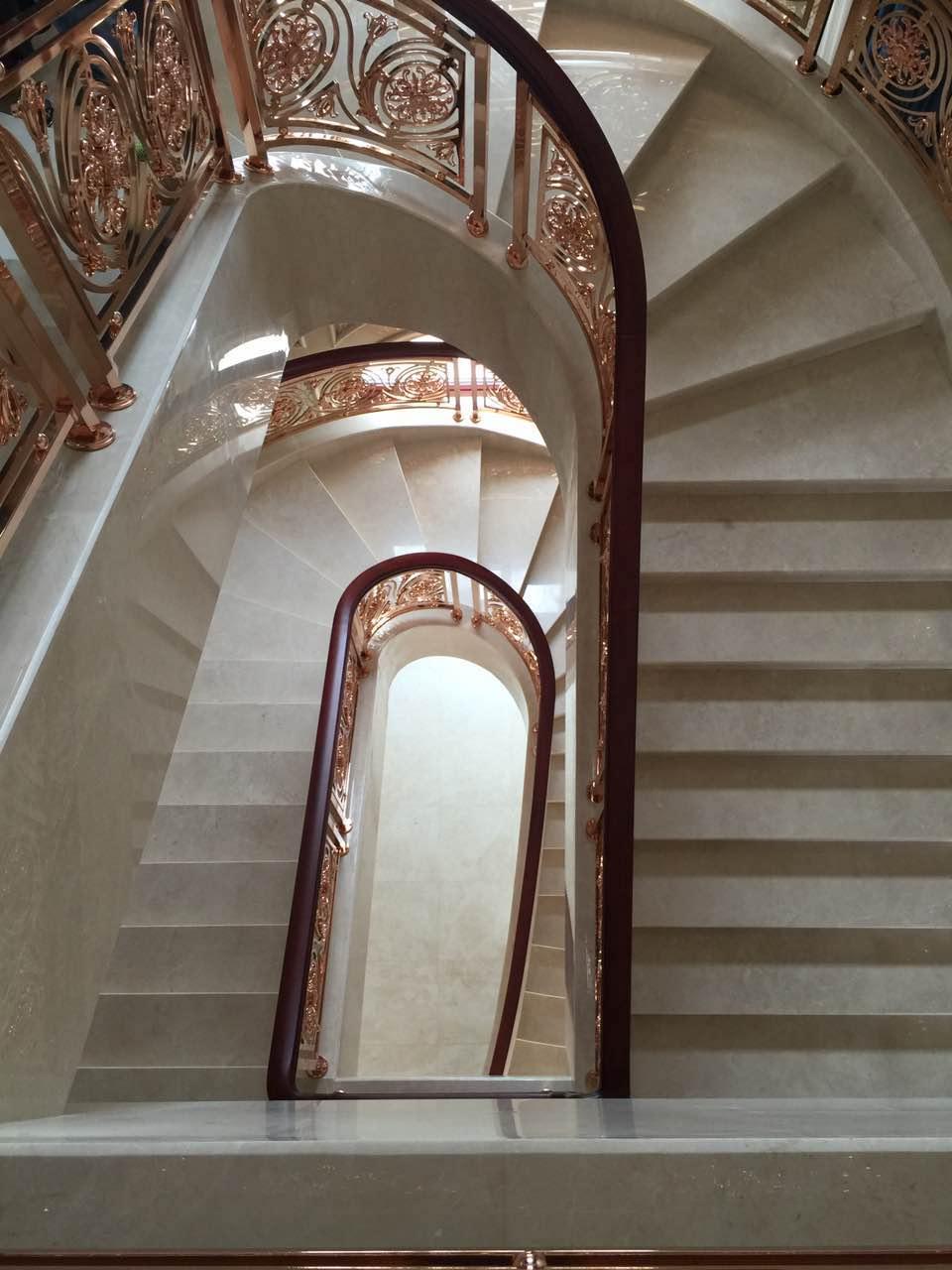 米洛西米黄楼梯实景