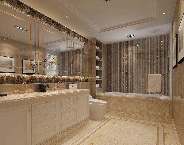 「金世纪」撞色搭配独特个性欧式卫浴间
