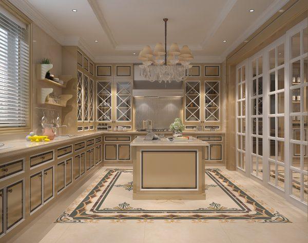 「海伦娜」温馨米黄立体美学欧式厨房