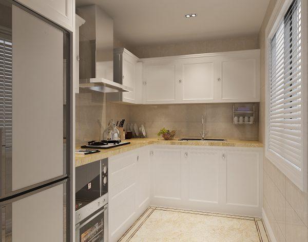 「米洛西浅咖」层次金黄明亮美好新古典厨房