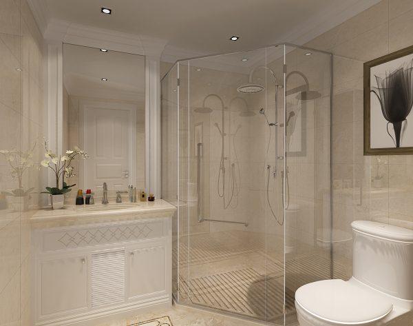 「米洛西中灰」浪漫花框精致新古典卫浴间