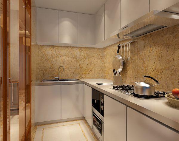 「米洛西金黄」轻奢金黄新装饰主义厨房