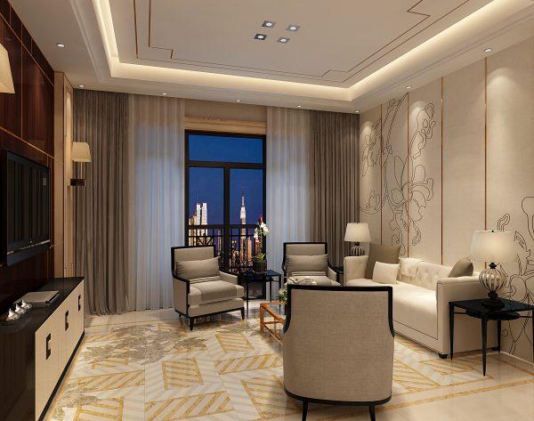 「织」金枝玉叶温暖高贵新装饰主义客厅