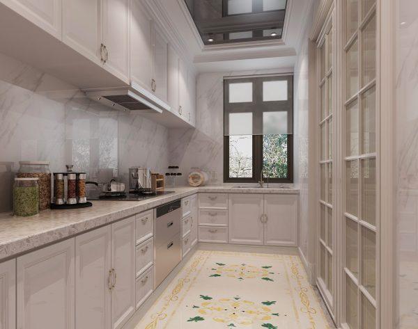「曼陀罗」明亮淡黄悦动温馨欧式厨房