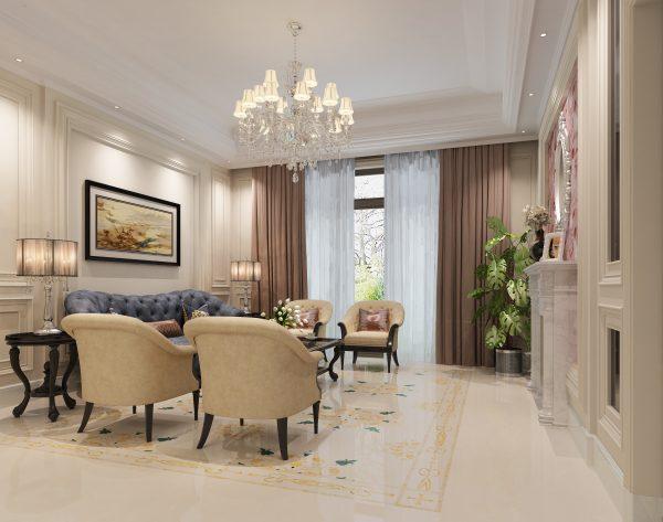 「曼陀罗」温馨米黄活泼清新欧式客厅