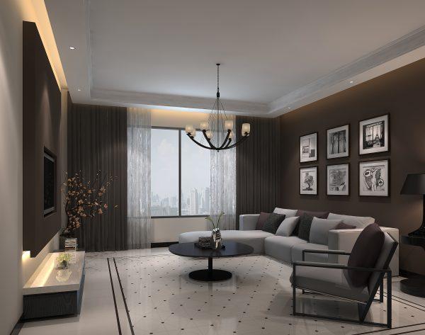 「蒂芙尼」黑白优雅简洁美学现代客厅