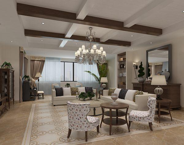 「米拉贝尔」清新色彩自然典雅田园客厅