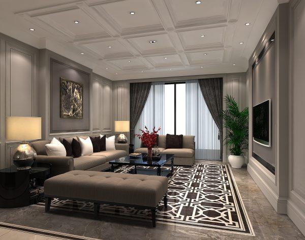 「勃兰登堡门」深灰魅力经典演绎新古典客厅