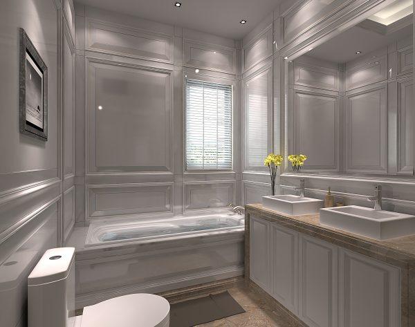 「米洛西中灰」高贵淡雅品味不凡新古典卫浴间
