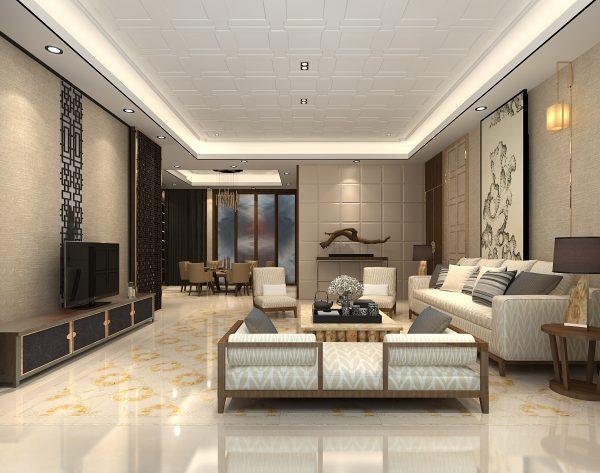 「天圆地方」东方韵味矜贵之家中式客厅