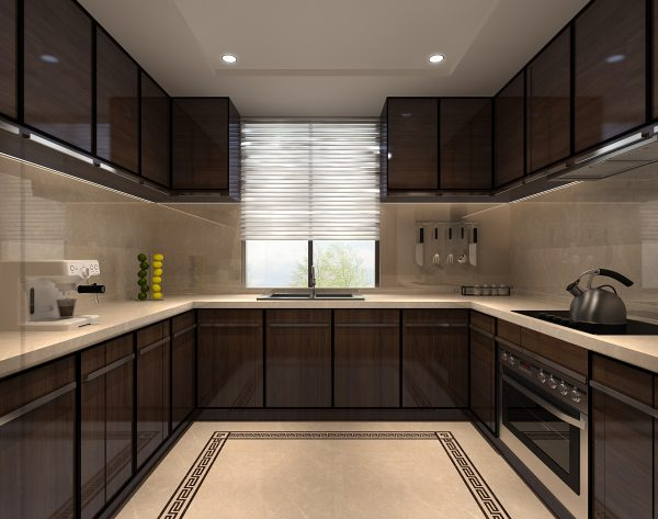 「江崖海水」横平竖直含蓄古典中式厨房