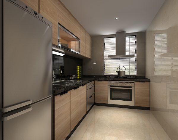 「米洛西浅灰」明亮暖调轻奢品质现代厨房