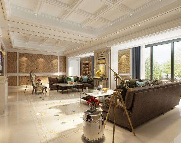 「曼陀罗」温馨米黄优雅美好欧式客厅