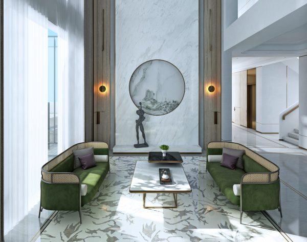 「BEN WU 墨」白色系淡雅诗意中式客厅