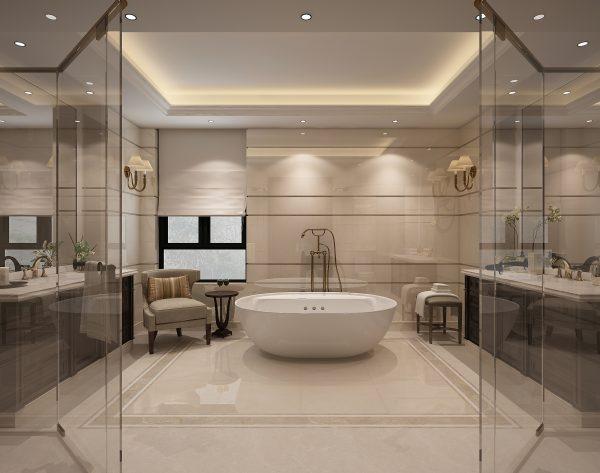 「白玉兰」气质米黄温馨明亮欧式卫浴间