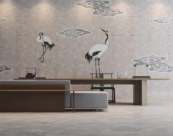 「云·水·鹤」浅灰诗意东方美学中式茶室