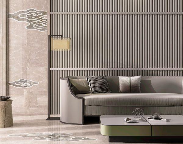 「云·水·鹤」高级灰诗意东方新中式客厅