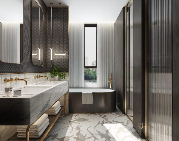 「BEN WU 墨」高级灰大师设计现代卫浴间