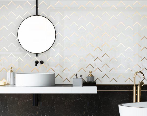 「白金时代」纯白优雅别致金属现代卫浴间