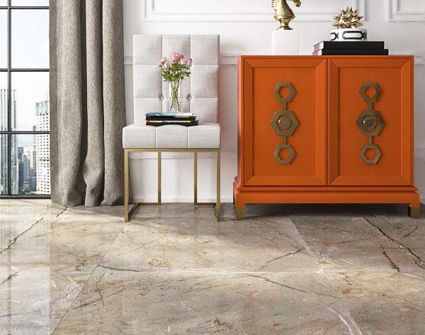 「米洛西中灰」撞色时尚简约现代客厅