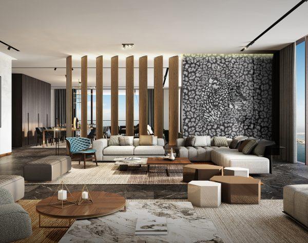 「米洛西美豹」高贵奢华优雅现代客厅