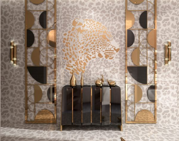 「米洛西美豹」白金轻奢高雅现代玄关