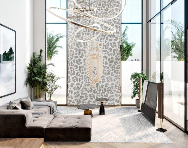 「米洛西美豹」白金优雅自由现代客厅