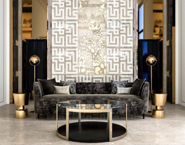 「米洛西美豹」白金奢华高雅新中式客厅