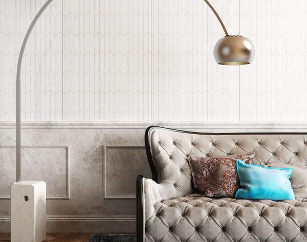 「时空隧道」灰白轻奢简欧沙发背景墙